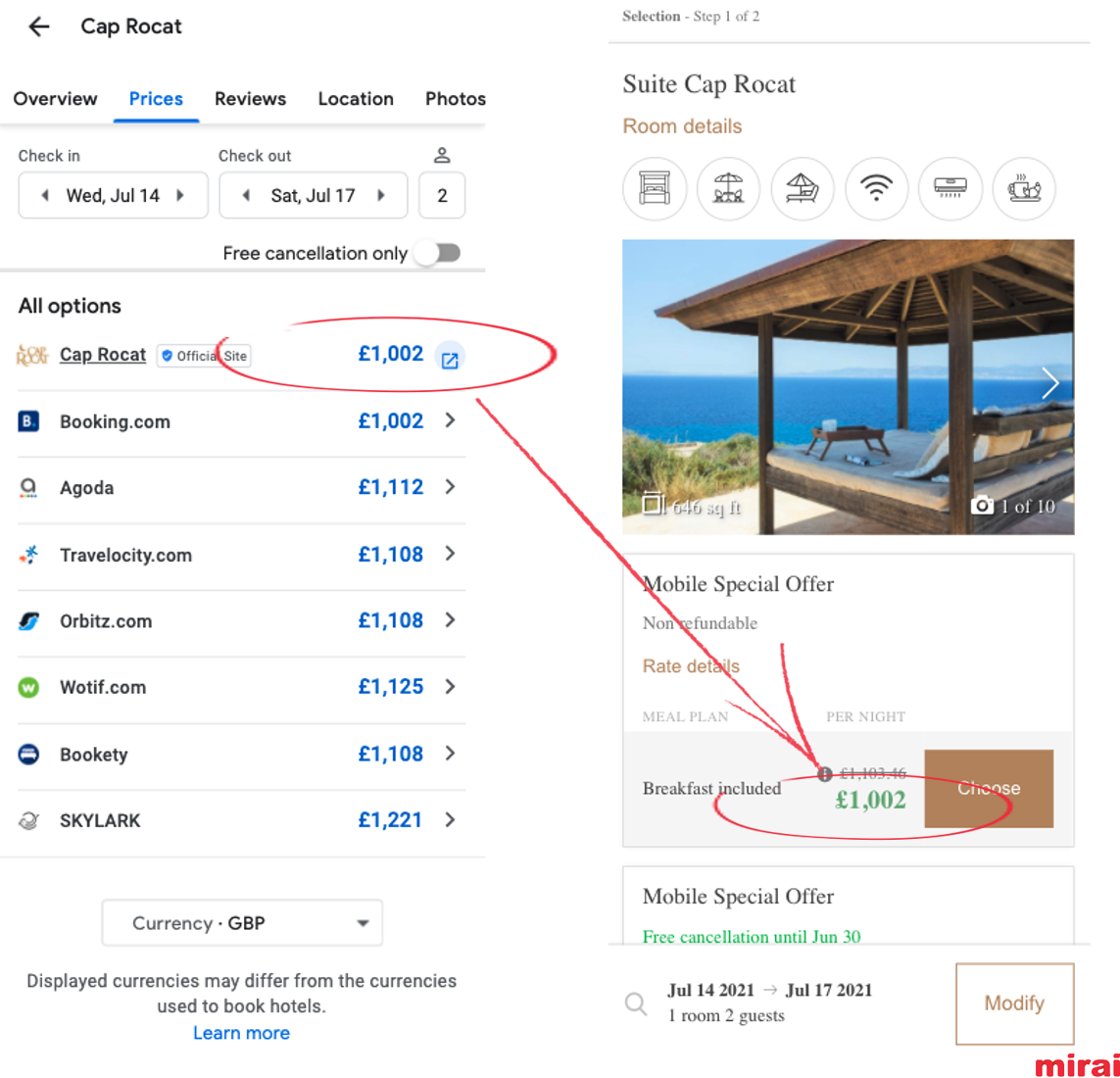 Consistency of currency and taxes in Google Hotel Ads - Mirai