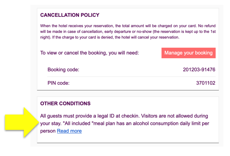 Booking confirmation emails - Mirai