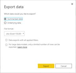 Export data BI Mirai